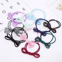 1PC women hair band ring Fashion Three Layers Of Elastic Rubber Bands The Hair Ring Tie The Hair 2U0629(China)