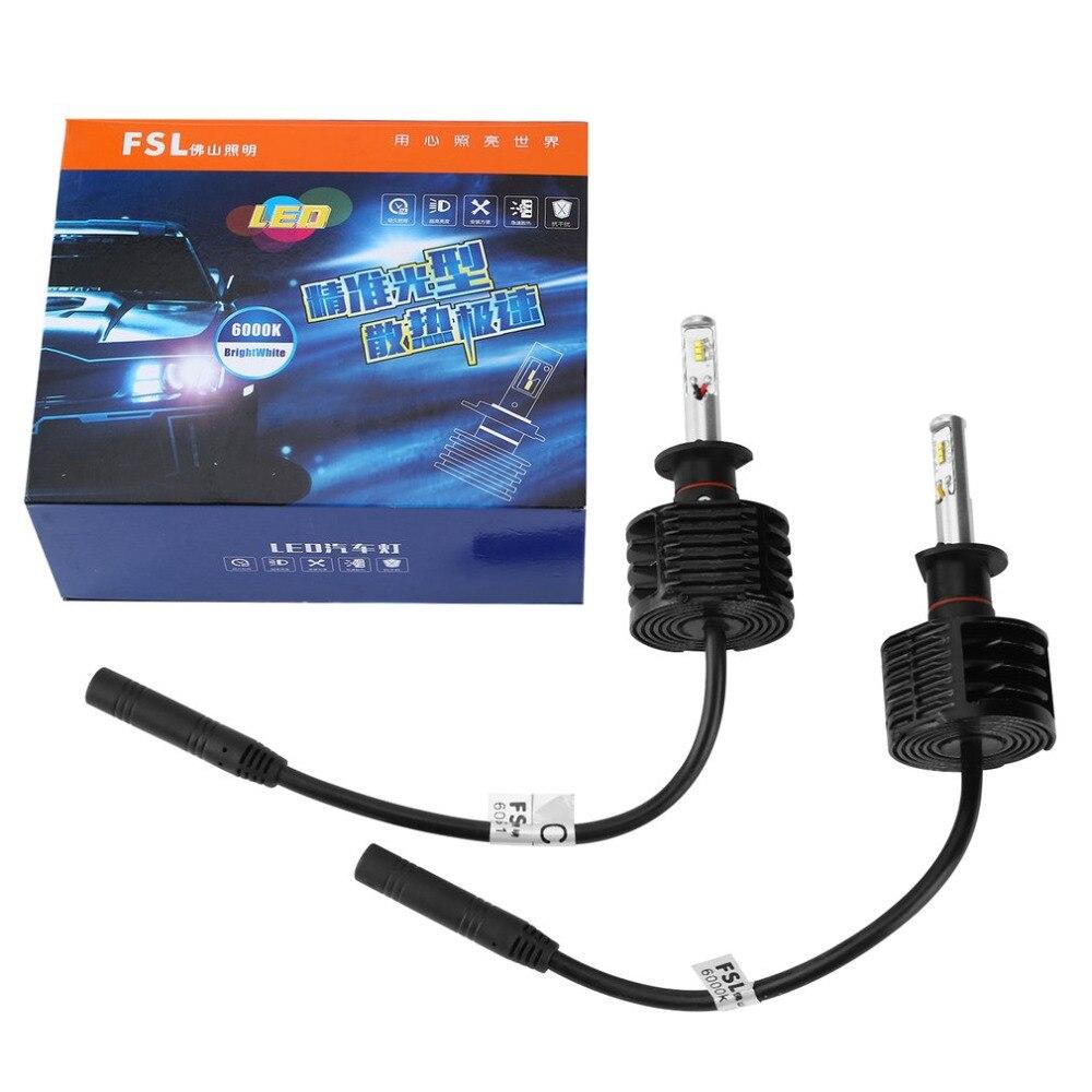 FSL H1 LED 12V 24V Car Motorcycle Headlights Front Fog Light Bulb Automobiles Headlamp 6000K 2400Lm 12V-30V Drop Shipping