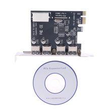 BGEKTOTH wysokiej jakości 4 portowa karta PCI E do USB 3.0 HUB PCI Express Adapter karty rozszerzeń 5 gb/s szybkość