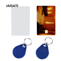 JAISATI 10pcs 13.56MHz IC M1 S50 Keyfobs Tags Access Control RFID Key Finder Card Token  Keychain ABS Waterproof