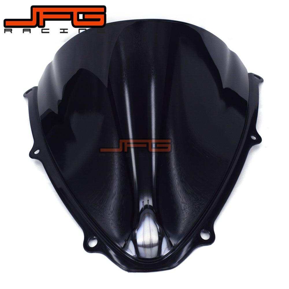 Black Windscreen Windshield for Suzuki GSXR600 GSXR750 GSXR 600 750 K6 2006-2007 2006 2007 new motorcycle ram air intake tube duct for suzuki gsxr600 gsxr750 2006 2007 k6 abs plastic black
