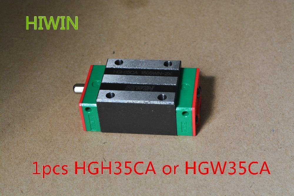 HIWIN Taiwan made 1pcs HGH35CA or HGW35CA linear bearing sliding block for HGR35 35mm linear guide for CNC Router hgh35ca 100% original taiwan hiwin linear guideway block grade c