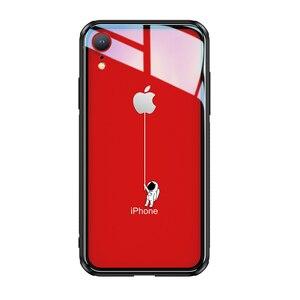Image 5 - Чехол из закаленного стекла для iPhone X XR 7 8 plus, 6d взрывозащищенный прозрачный стеклянный чехол с рисунком для девушек, стеклянный чехол для iphone xr 7 8 plus