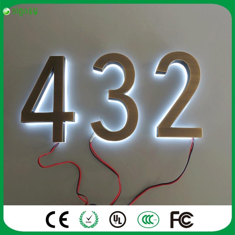 House Numbers Home Number Personalize Door Plate Apartment Door Numbers  Home Decoration Customize Doorplate Vintage Brass With Door Numbers.