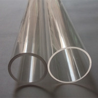 Acrylic Tube Transparent OD100X3X500MM Plastic Pipes Building Materials LED Tubes Can Cut To Size