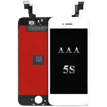 Good quality 10pcs Display For iPhone 5S LCD digitizer with touch screen earmesh camera holder assembly for mobile phone screen