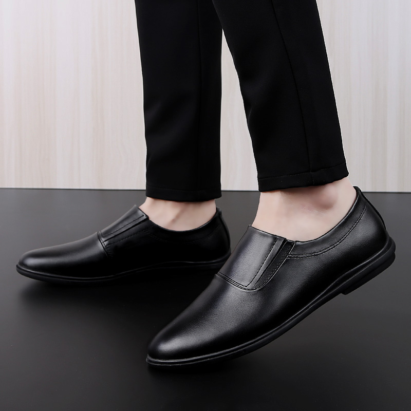 Men 39 s shoes casual genuine leather cow loafers male classic solid brown black slip on shoe man breathable driving shoes for men in Men 39 s Casual Shoes from Shoes
