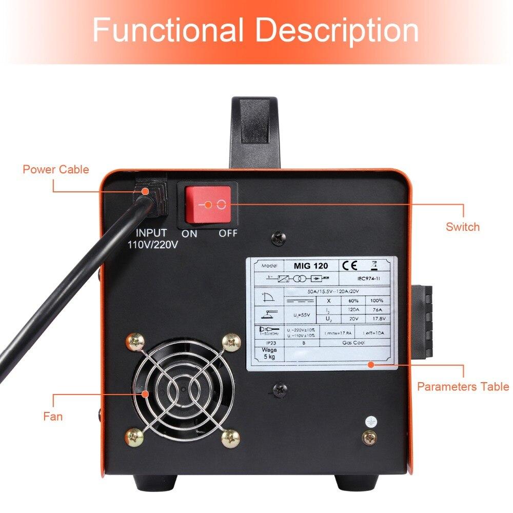 HITBOX Mig soudeur sans gaz 220V MIG1200 Mag soudeurs fer acier soudage équipement MIG MAG soudeuse Portable - 6