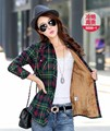 M-XXL Blouse shirt women plaid shirt Cotton Long sleeve blouse tops fashion 2015 shirts Autumn clothing 20 colors