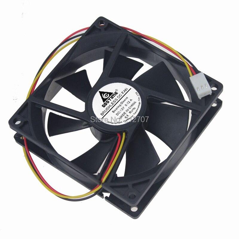 1 шт. Gdstime 92x92x25 мм 9 см 9225 12 В 3Pin 92 мм компьютер DC кулер вентилятор охлаждения