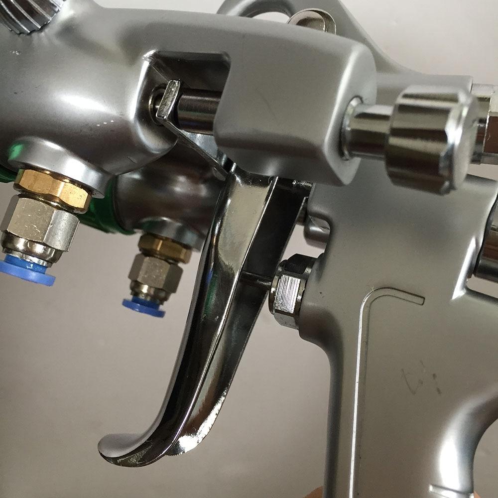 SAT1189 spedizione gratuita doppia testa pistola a spruzzo vernice - Utensili elettrici - Fotografia 2