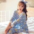 JRMISSLI 2017 Spring Autumn Fashion Pijama Women's Pajama Sets Women Pajamas Pajamas girls overnight women Plus size Pyjama