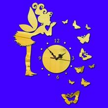 DIY Butterfly Wall Clock 3D Modern Design Clocks For Home Decor Mirror Watch Living Room Decoration F