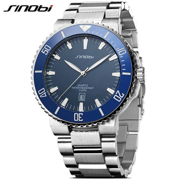 SINOBI Men's Watches Diving 10Bar Waterproof Watches Top Luxury Brand Watch Men Watch Full Steel Clock Men Saat erkek kol saati светильник 241 103 01 velante