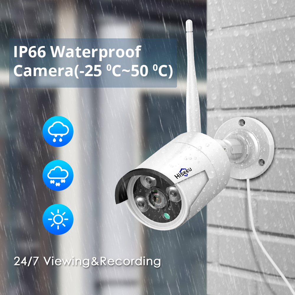 Image 4 - 1080P 8CH Wireless CCTV Security Camera System H.265 12 Inch LCD Screen NVR WIFI Outdoor IP Camera 2MP 1T HDD-in Surveillance System from Security & Protection