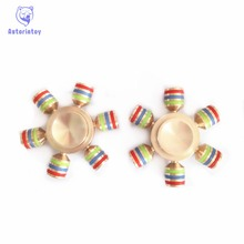 Hot EDC toy detachable rotator orqbar pure copper metal professional Fidget Spinner autism and ADHD hand rotation