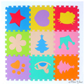 Hot Sale 30*30cm 10pcs Set Puzzle Carpet Baby Play Mat Floor Puzzle Mat EVA Speelmat Foam Carpet Mosaic Floor Baby Play Mat