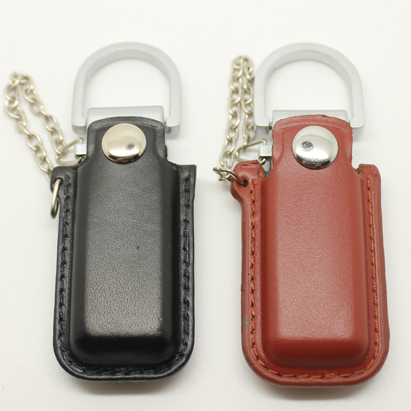 Creative Leather USB 2.0 Flash Pen Drive Leather Storage Card Disk 4g 8g 16g 32g 64g 128g Pendrive  USB Drives Memory Stick