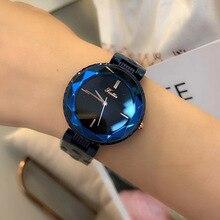 Роскошные брендовые синие ЖЕНСКИЕ НАРЯДНЫЕ часы, женские кварцевые часы из нержавеющей стали, повседневные часы с фиолетовым браслетом, блестящие наручные часы Reloj Mujer