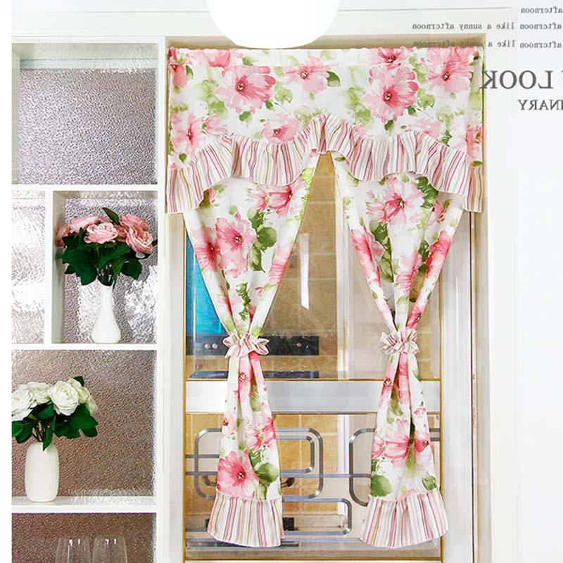 puerta de la cocina moderna une colores conjunto cortina corta tela de algodn cortinas de