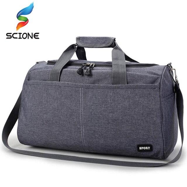 e72fb97d5493 Waterproof Nylon Sports Training Gym Bag Men Women Fitness Bags  Multifunction Travel Yoga Handbag Outdoor Sporting