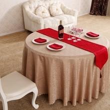 New Design Circle Interlocking Jacquard Hotel ChristmasTablecloths Wedding Table Years Tablecloth Toalha De Mesa