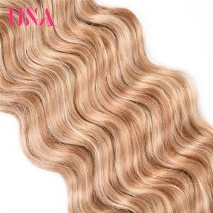 Image 3 - UNA שיער טבעי עמוק גל חבילות מראש בצבע הודי ערב שיער 1/3/4 חבילות הודי שיער חבילות רמי שיער טבעי הרחבות