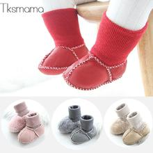 2019 Brand Baby Shoes Winter Warm Fur Boots First Walker For Infant Boy Girl Shoes