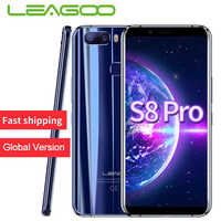 "LEAGOO S8 Pro Smartphone 5.99""FHD IPS 2160*1080 Screen 6GB 64GB Android 7.0 MT6757 Octa Core Fingerprint ID 4G Mobile Phone"
