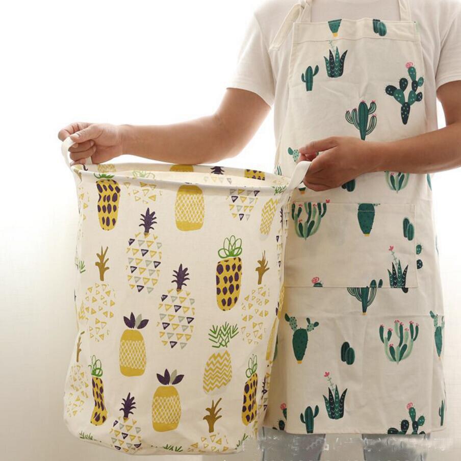 Nuevo cactus lavandería bolsa fruta piña ropa cestas de ...