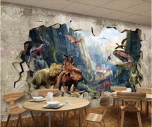 beibehang papel de parede 3d photo wallpaper Custom ancient dinosaur kingdom 3D stereo TV store backdrop wall