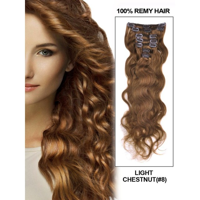 Body Wave Clip In Hair Extensionbest Human Indian Hair Weave Clips