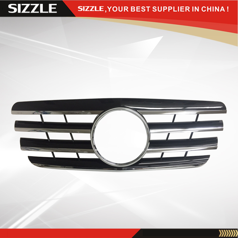 Plastic Black With Chrome Front <font><b>Grille</b></font> Auto <font><b>Grille</b></font> For <font><b>Mercedes</b></font> <font><b>W210</b></font> E-Class 2000-2002 CL Style image