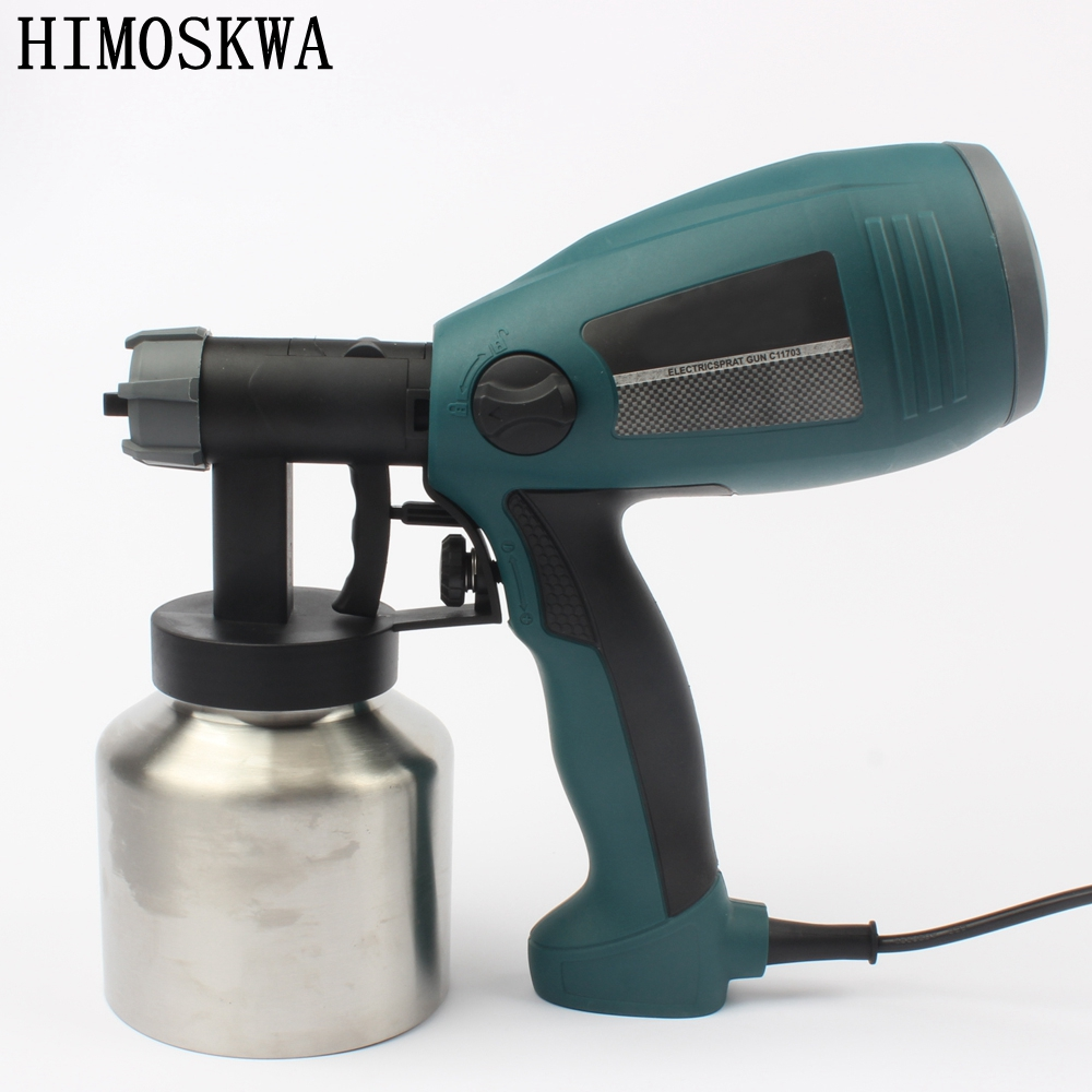 800ml 2.5mm 500w Detachable high pressure electric spray gun spray nozzle adjustable type control flow latex paint spray gun