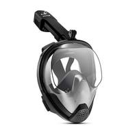 2018 Brand New Full Face Snorkeling Masks Anti fog Anti Leak Swimming Snorkel Scuba Underwater Diving Mask For GoPro