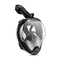 2019 Brand New Full Face Snorkeling Masks Anti fog Anti Leak Swimming Mask Snorkel Scuba Underwater Diving Mask For GoPro