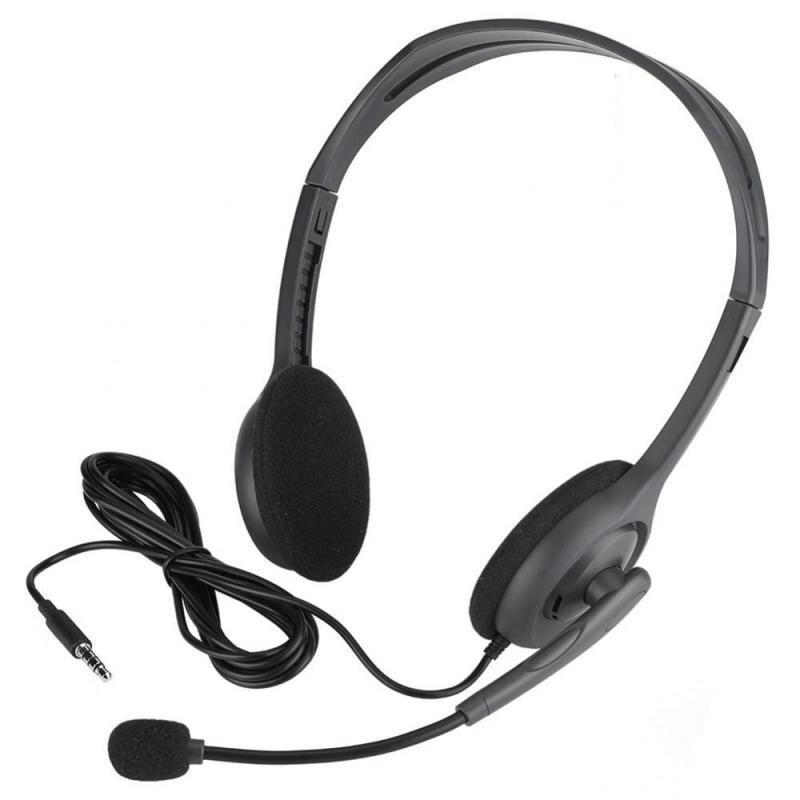 Head Mounted Multi Device Stereo Computer Headphone 3 5 Mm