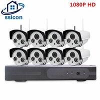 SSICON 8CH IP CCTV Системы Беспроводной 1080 P NVR 8 шт. 2.0MP ИК Открытый P2P Wi Fi ip cctv безопасности Камера системы комплект видеонаблюдения