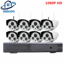 SSICON 8CH IP CCTV System Wireless 1080P NVR 8PCS 2.0MP IR Outdoor P2P Wifi IP CCTV Security Camera System Surveillance Kit