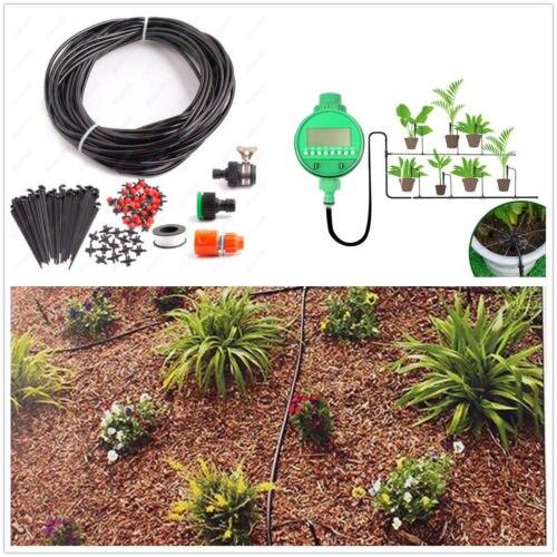 DIY Micro Drip Irrigation Minuterie Automatique Auto Arrosage Des Plantes 25 m Système Tuyau D'arrosage Arrosage Des Plantes Dispositif