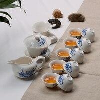 Ceramic Kung Fu Tea Set Include1 Teapot 1 Fair Cup 10 Tea Cup Chinese Tea Set