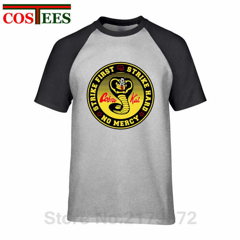 3448340317e ... Vestido Vintage verano 2018 Cobra Kai T shirts men Karate T-shirt Cool  black mamba ...