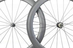 Image 3 - Roues tubulaires en carbone 700C à 250 degrés de bicyclette de route, 38mm 50mm 60mm 88mm, avec moyeu Novatec 291 482