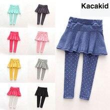 Модная юбка-брюки для маленьких девочек детские штаны брюки-кюлоты весенне-осенние детские леггинсы для девочек От 1 до 7 лет