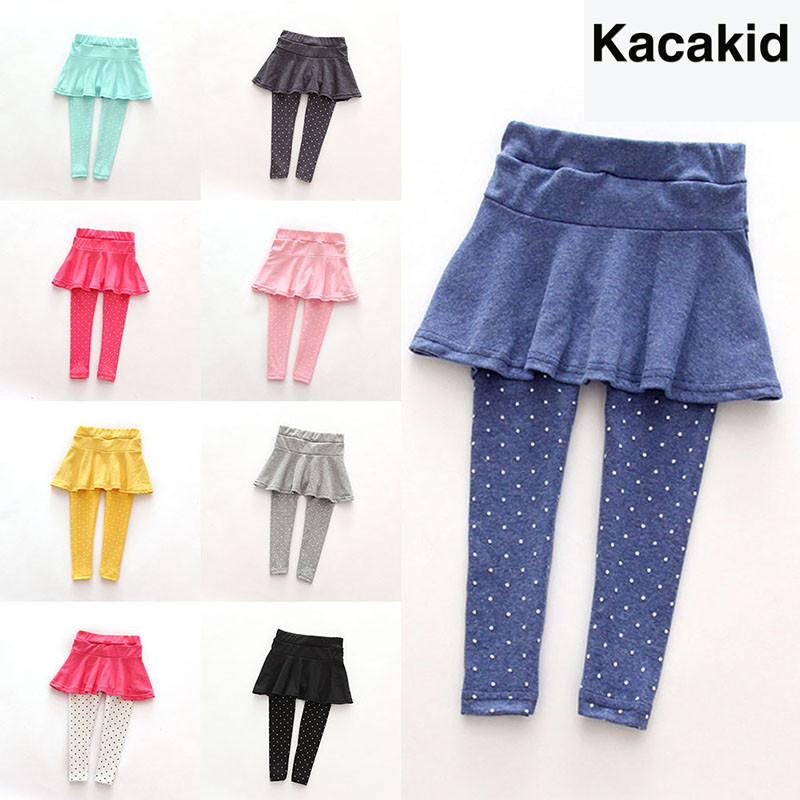 Fashion Toddler Girl Skirt Trousers Children Pants Culottes Render Pants Spring/Fall Kids Girls Leggings Trousers 2019 1-7Y