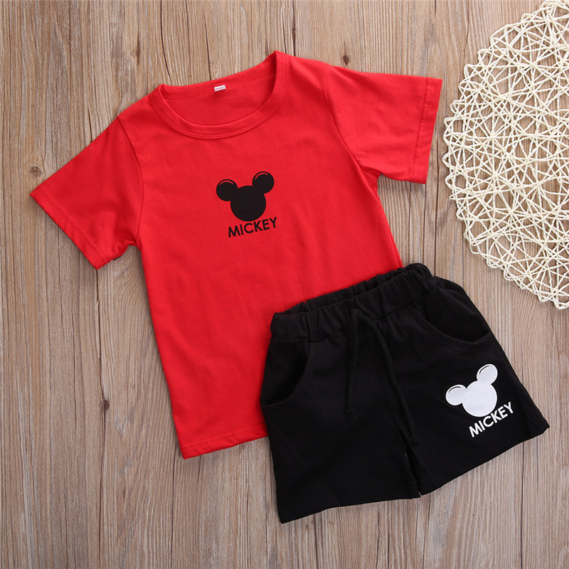 2PCS Baby Boys Girls Clothes Summer Toddle Kids Short Sleeve T-Shirt Top + Short Hot Pant Outfit Kids Clothing Set hot sale 2016 kids boys girls summer tops baby t shirts fashion leaf print sleeveless kniting tee baby clothes children t shirt