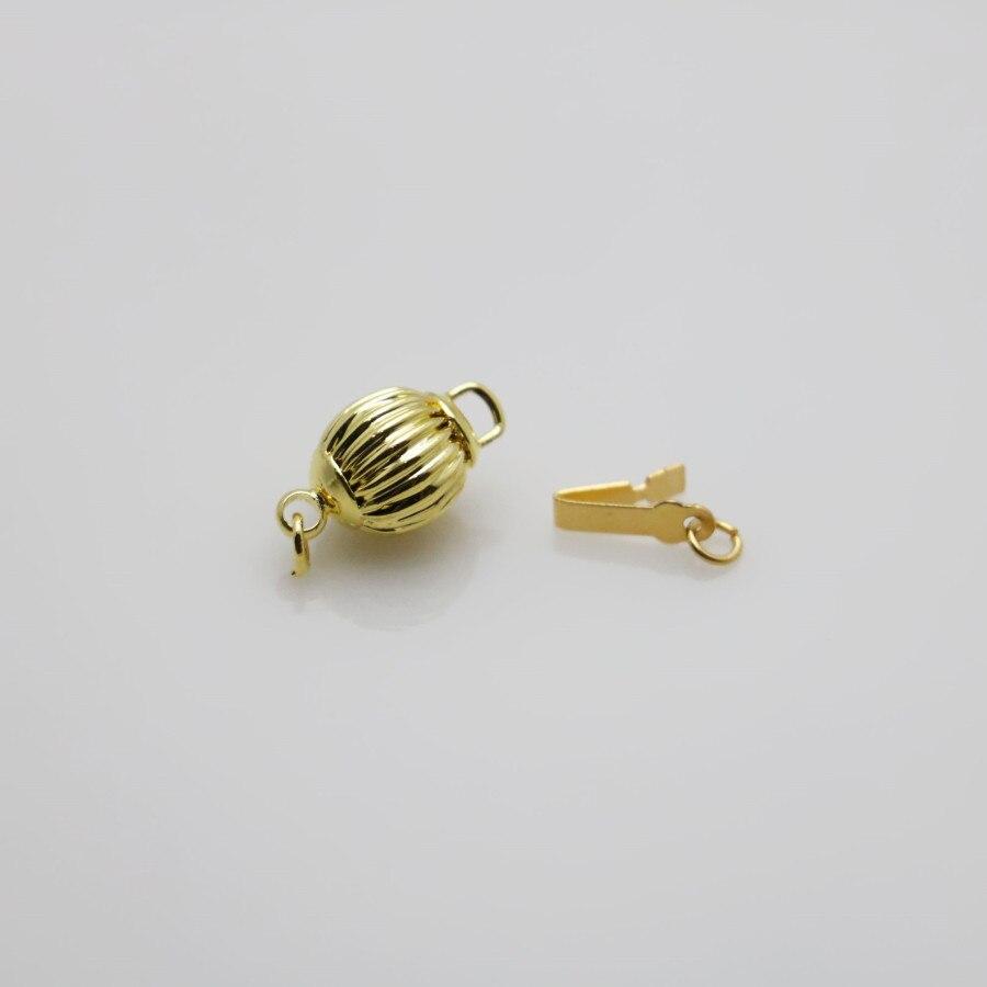 10pcs 8mm zinc alloy plated gold lantern clasps Accessories