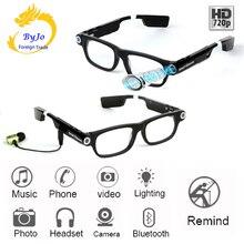 새로운 다기능 블루투스 안경 지원 음악 및 통화 720 p 비디오 안경 내장 32g 스토리지 led 빛