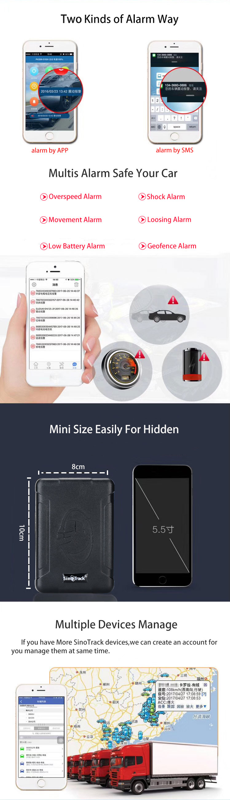 Sinotrack GPS Tracker ST-915 with 10000mAh Battery