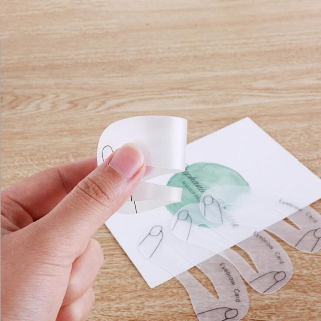 Thrush Card Threading Word Eyebrow Makeup Tools Threading Artifact Thrush Aid Card Eyebrows Mold 4